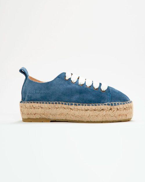 Espadrilles Jeans Blanco | Miboheme