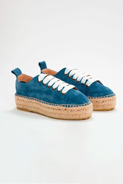 Espadrilles Jeans Blanco rotada | Miboheme