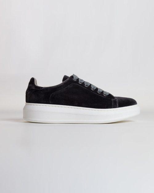 Sneakers Terciopelo gris | Miboheme