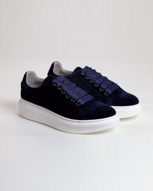 Sneakers Terciopelo marino rotada | Miboheme