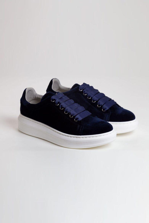 Sneakers Terciopelo marino rotada   Miboheme